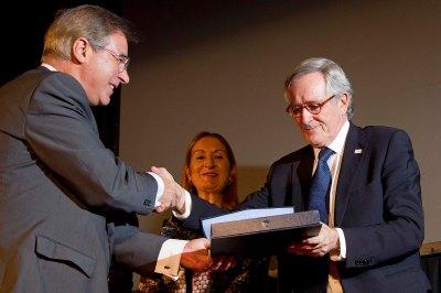 Juan Ramón Rodríguez, Presidente de Fundación ICIL; Xavier Trias, Alcalde de Barcelona; Ana Pastor, Ministra de Fomento